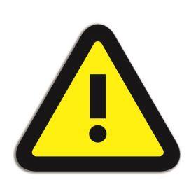 Beschrijfbare magneet voor whiteboards - Attentie - Geel/Zwart (5 stuks)