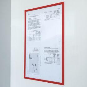 Magnetische documenthouder PRO - A4 - Rood - Per stuk