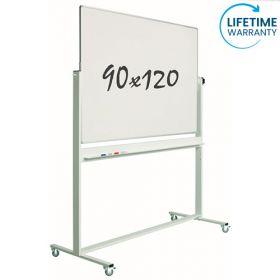 Whiteboard- Kantelbord - Dubbelzijdig - Magnetisch - Emaille 90 x 120 cm