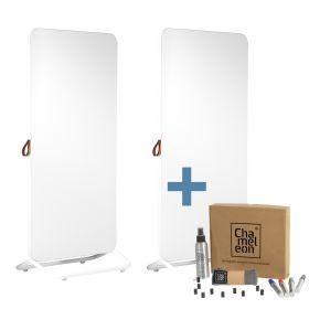 Chameleon Mobile dubbelzijdig whiteboard 89 x 192 cm - Wit