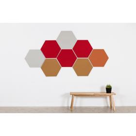 Design prikbord zeshoek - kleurcode 2210 - rood