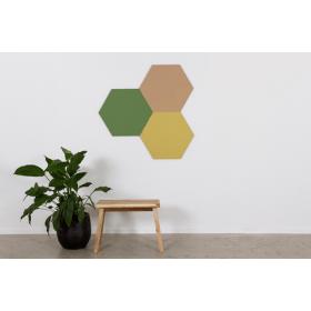 Design prikbord zeshoek - kleurcode 2212 - geel