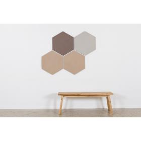 Design prikbord zeshoek - kleurcode 2166 - lichtbruin