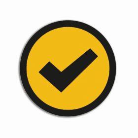 Impressiemagneten – Vinkje geel – Ø 30 mm – set van 5 stuks