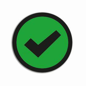 Impressiemagneten – Vinkje groen – Ø 30 mm – set van 5 stuks