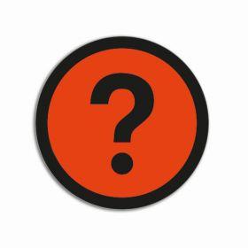 Impressiemagneten – Vraagteken oranje – Ø 50 mm – set van 5 stuks